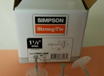 """Simpson Strong-Tie PINWP-150W 1-1/2"""" Pin White Plastic Washer 50pc/Box"""