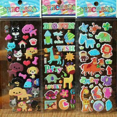 DIY Kawaii 3D Bubble Stickers Kawaii Cartoon Animal Kids Sticker Gift Best U2M7