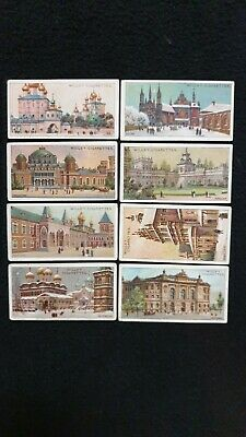 Wills Cigarette Cards x 8 - Gems Of Russian Architecture