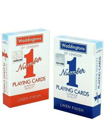 PROFESSIONAL PLASTIC COATED  PLAYING CARDS Waddingtons Number 1