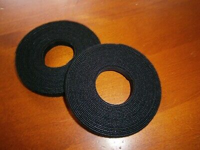 """2 ROLLS PROFESSIONAL HOOK AND LOOP CABLE TIES - 2 X 15FT width : 0.33"""""""