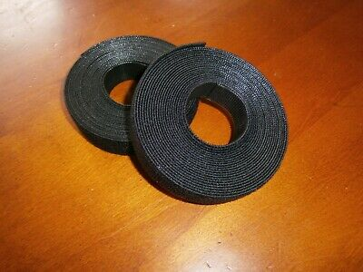 """2 ROLLS PROFESSIONAL HOOK AND LOOP CABLE TIES - 2 X 15FT width : 0.75"""""""