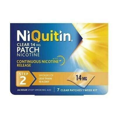 Niquitin Patches Step 2 - 14mg x 7 Patches Only £9.99 # 48 hour delivery