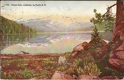 Donner Lake, CALIFORNIA - 1910 - Southern Pacific Rail Road Advertising