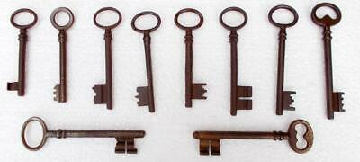 10 Vintage French Rustic Door Keys #2