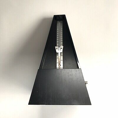 Precise Mechanical Metronome Black Vintage Style Art Music Timer - Works