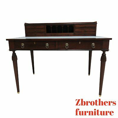 Marshall James Mahogany Leather Top Writing Desk Federal style