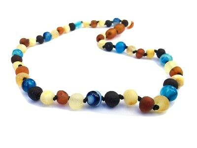 Unpolished Multi-colour Teething Necklace