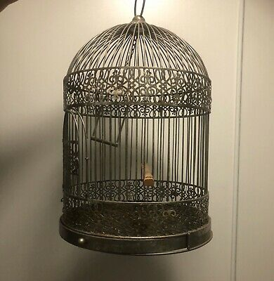 French Antique Birdcage - Includes Pull-out Bottom For Easy Maintenance