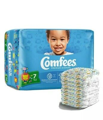Comfees Baby Diaper Size 7, Over 41 lbs. CMF-7 80 /Case