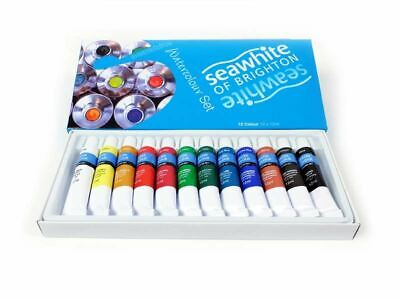 Seawhite Starter Watercolour Paint Set, 12 x 12ml in 12 Colours NEW in Box