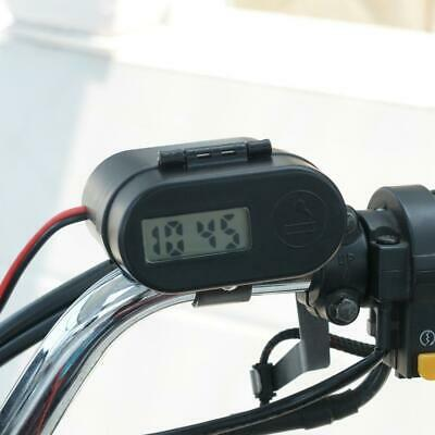 All-in-one Motorcycle USB Charger -  Lighter, Clock , Switch