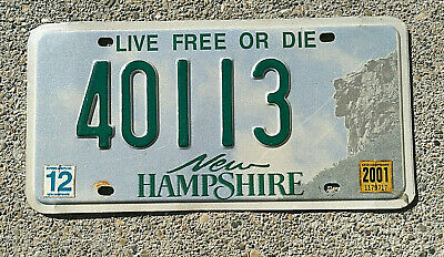NEW HAMPSHIRE REAL AUTHENTIC LICENSE PLATE AUTO NUMBER CAR AUTO TAG LIVE FREE NH