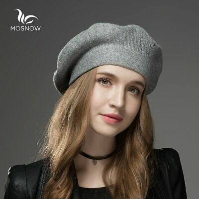 Winter Knitted Hats Wool Cashmere Women Berets High Quality Casual Ladies Caps