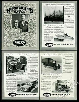 1977 Volvo 50th anniversary car truck boat photo 4pg French vintage print ad