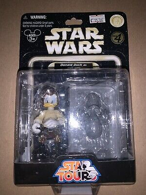STAR WARS STAR TOURS DONALD DUCK AS HAN SOLO DISNEY EXCLUSIVE NEW IN BOX
