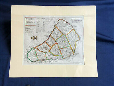 Vintage Map of Barbados Reproduction, purchased in the 1970's