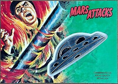 Mars Attacks: The Revenge! Topps UFO Commemorative Medallion #12/55 SP