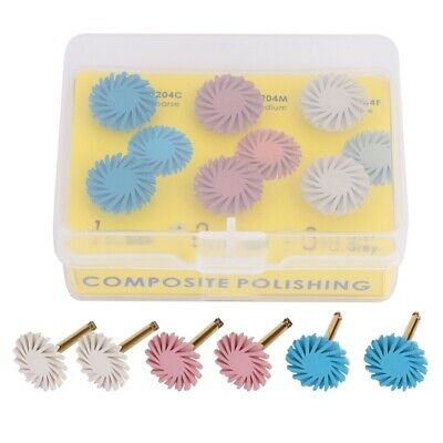 3 Colors Mixed Dental Composite Resin Polishing Disc Spiral Flex Brush Burs UK