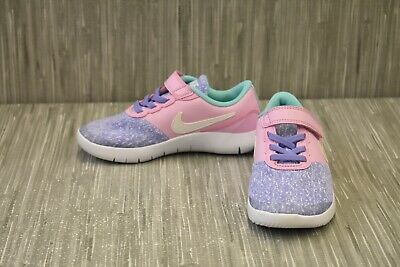 Nike Youth Girl/'s Flex Contact Lace Up Shoes Purple//Pink #AV8509-400 142R z NEW