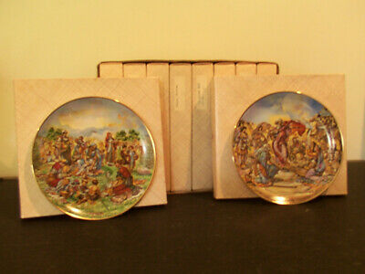 """Koustis """"The Creation"""" Collector Plate Series Old Testament Genesis Bible"""