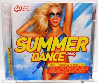 SUMMER DANCE + 40 Chart House Tracks auf 2 CDs + Starke Remixes + Edit 2014 +
