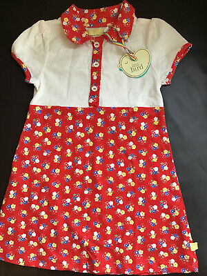 Little bird By Jools Oliver girls Age 4-5 Years Red Floral dress Bnwt 🍄🌈🍄
