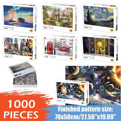 Jigsaw Puzzles 1000 Piece DIY Educational Toys Decompression Game for Adults Kid