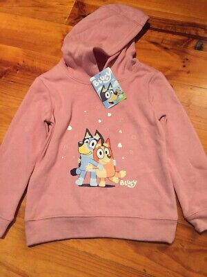 Bluey Bingo Girls Kids Pink Hoodie Jumper top New with tags ABC Kids