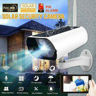 1080P Solar Powered Energy Security Camera Wireless WiFi IP Home HD CCTV Outdoor
