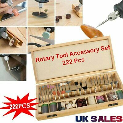 222PCS Rotary Polishing Tool Grinder Drill Bit accessories for DIY carving, wood