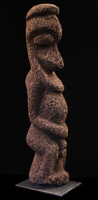 Ambrym figure, fougère vanuatu, black palm carving, oceanic art, océanie