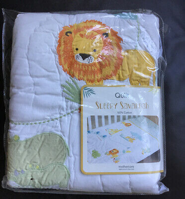 Mothercare Sleepy Savannah Quilt For A Cot Or A Cot Bed 🌟 Brand New 🌟