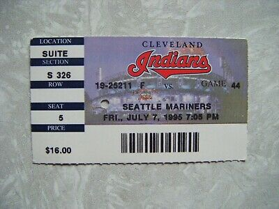 1995 Cleveland Indians vs Seattle Mariners Ticket Stub July 7 Randy Johnson 13K
