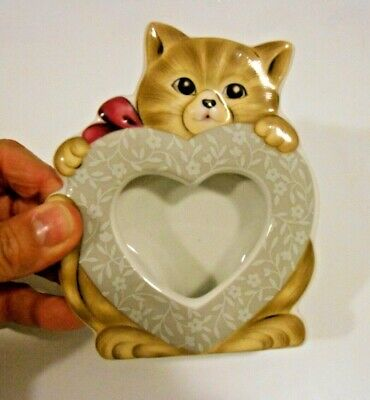 Cat Kitten Photo Picture Frame Tabletop Stand alone