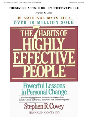 The 7 habits of highly effective people  over 10 million sold (PDF)