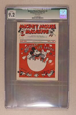 Mickey Mouse Mag Vol. 1 1st Giveaway Series #Vol. 1 #4 CGC 9.2 QUALIFIED 1933