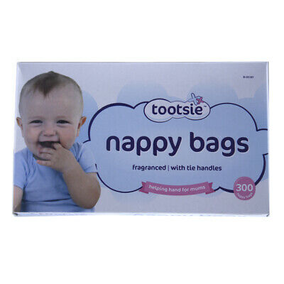 Disposable Hygenic Nappy Sack Bin Bags Fragranced Handles Scented Perfumed