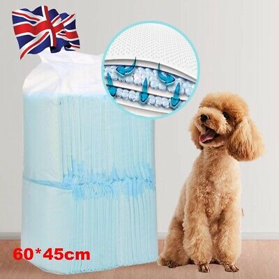50pcs Heavy Duty Dog Puppy Large Training Wee Floor Toilet Mats 60 x 45cm