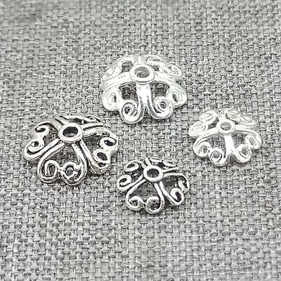 50pcs Silver tone lucky knot connectors h0167