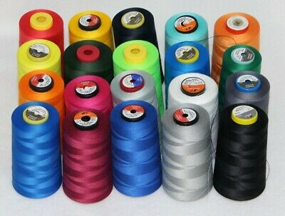Sewing Thread Yarn Overlock Industrial 5000 yards per cone all colours FREE P&P