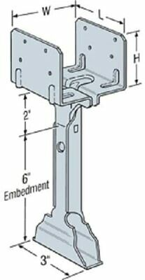 Simpson Strong Tie EPB44A 1 1 1 14-Gauge 4x4 Elevated Post Base FREE2DAYSHIP