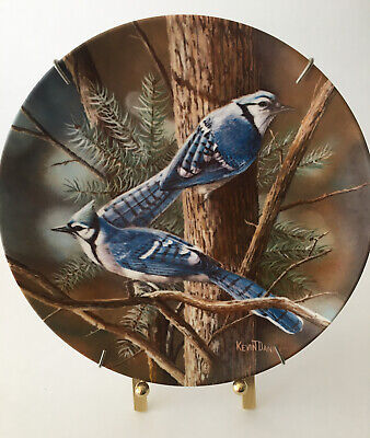 Vintage Knowles The Blue Jays Plate by Kevin Daniel 14594D Limited Edition 1985