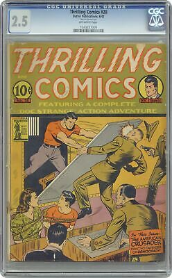 Thrilling Comics #28 CGC 2.5 1942 1343337009