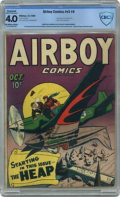 Airboy Comics #Vol. 3 #9 CBCS 4.0 RESTORED 1946