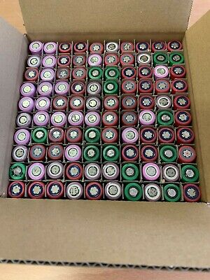 lots 100x tested 18650 battery, lithium ion cells for diy powerwall 1200-1399mAh