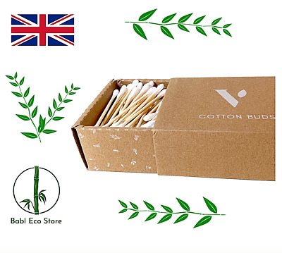 200 Bamboo ECO Cotton Ear Buds Biodegradable Eco Friendly Sustainable UK Seller