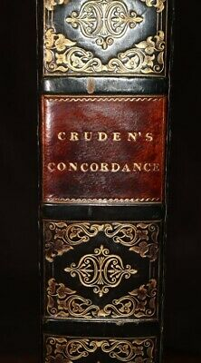 1825 Concordance to the Holy Scriptures Old New Testament CRUDEN Apocrypha Bible