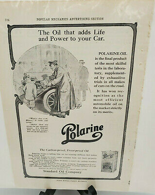 Original1911Standard Oil Ad PolarineThe oil that adds life and power to your car