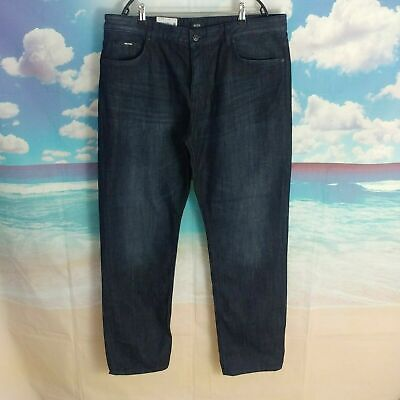 NWT $178 HUGO BOSS Relaxed Fit JEANS MENS Albany 50402404 Clean Jeans Blue